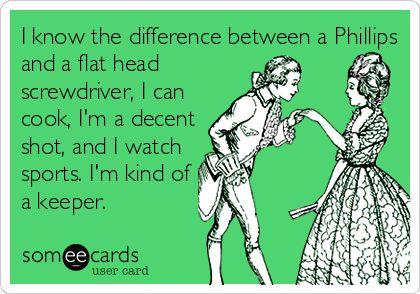 I'm a keeper..