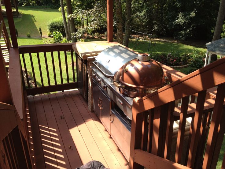This is the outdoor cooking area before a do over.