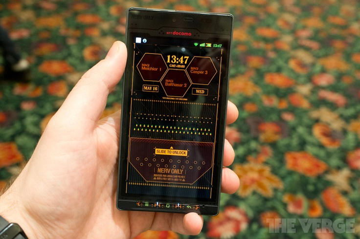 Evangelion UI on Android phone. Probably terrible UI, but the geek in me totally wants it!