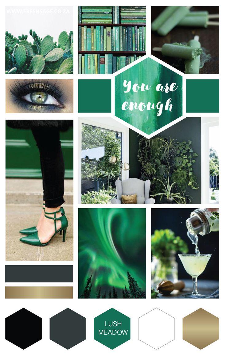June Moodboard | Inspired by Pantone: Lush Meadow - @FreshSageSA