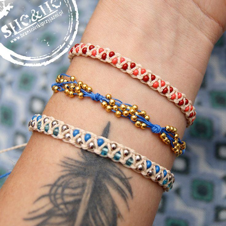 hand made macrame bracelets, macrame jewelry, boho, beading, diy
