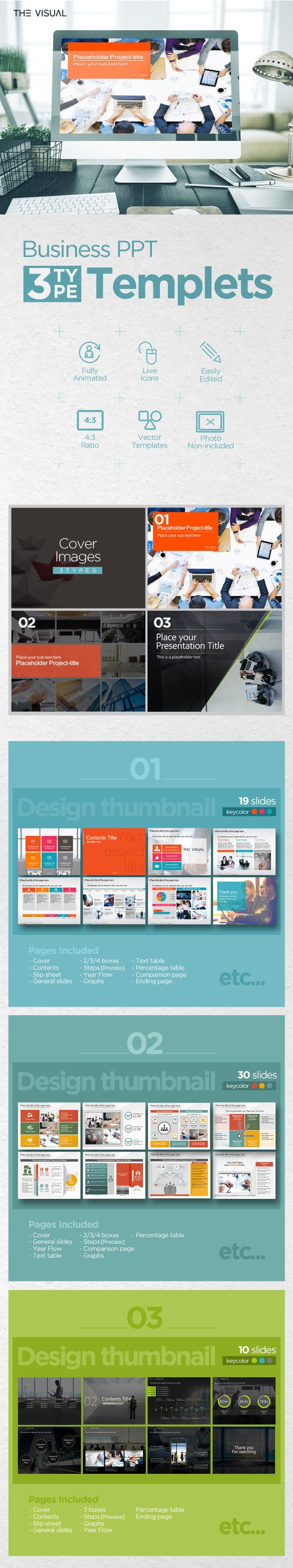 PowerPoint Template #design #slides Download: http://graphicriver.net/item/the-visual_powerpoint-01/13006989?ref=ksioks