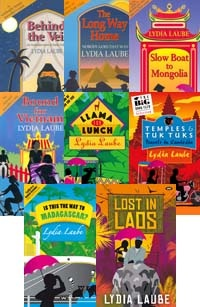 This bundle allows you to buy any three of Lydia Laube's books for just $49.95! Usually priced at 20-25 dollars each, these hilarious true stories from her travels will make a great addition to your book shelf. The book choices include Behind the Veil, The Long Way Home, Slow Boat to Mongolia, Bound for Vietnam, Llama for Lunch, Temples and Tuk Tuks, Is this the way to Madagascar?, and Lost in Laos.    http://www.wakefieldpress.com.au/image.php?type=P=952