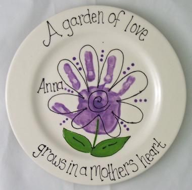 Handprint Plate @Casee Corcoran Meach Corcoran Meach Crystal cute for gardening mothers day gift