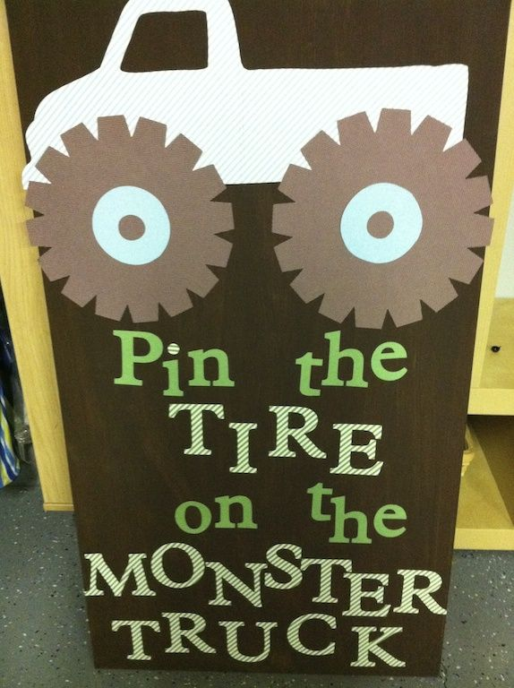 Pin the Tire on the Truck Monster Jam Party Ideas Pro Party Planner