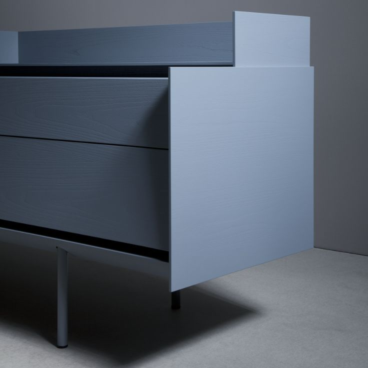 Sideboard 240 with drawers and top shelf - telegrey