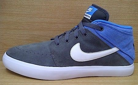 Kode Sepatu: Nike Suketo 2 Mid Grey Blue  Ukuran Sepatu: 42.5 Harga: Rp. 560.000,- Untuk pemesanan hub 0831-6794-8611