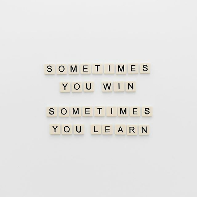 I don't want to win anything, my life is not a challenge.... but I'm learning every day.... always will....