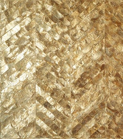 Mother of Pearl chevron tiles. Beauty for the sake of beauty!