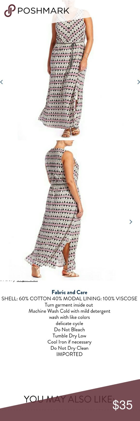NWT Lucky Brand 3XL tribal maxi dress Super soft and comfy dress. New with tags, does not include belt that is shown in first 2 photos but can easily substitute with another belt of your own. Lucky Brand Dresses Maxi