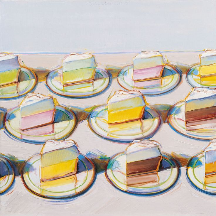 """Meringues,"" by Wayne Thiebaud - Crosscurrents: Modern Art from the Sam Rose and…"