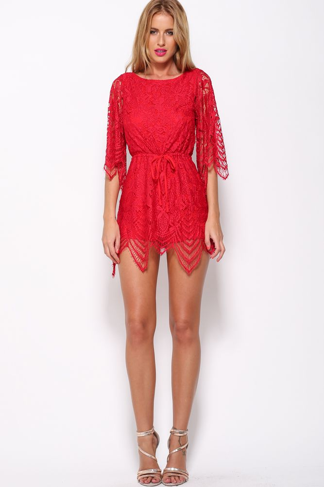 Edge Of The Evening Playsuit, Red, $69 + Free express shipping http://www.hellomollyfashion.com/edge-of-the-evening-playsuit-red.html