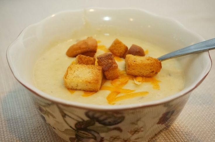 Cream of Leek Soup with Baked Croutons - Mennonite Girls Can Cook