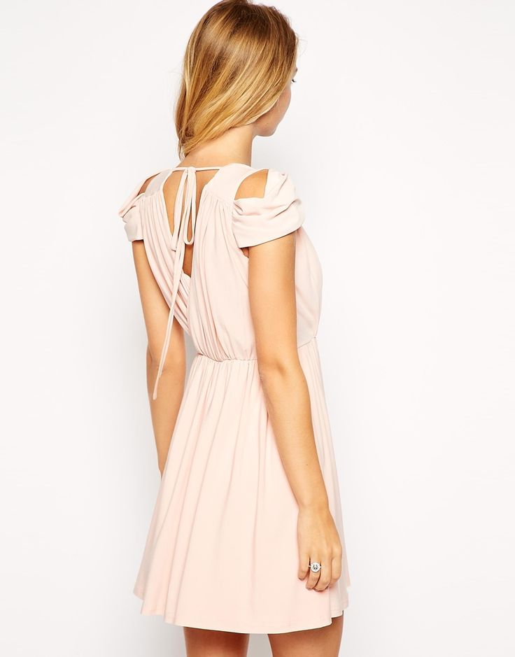 Image 2 of ASOS PETITE Mini Dress with Wrap Front