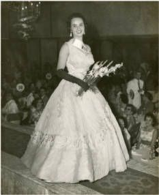 Miss Cuba 1958 Arminia Perez in the Miss Universe contest, televised from Long Beach, CA