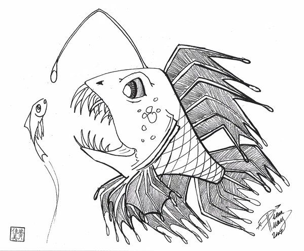 Draw a Scary Fish by Diana-Huang.deviantart.com on @DeviantArt  h