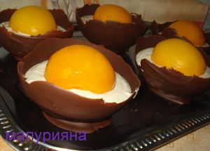 Десерт  Страусиные яйца