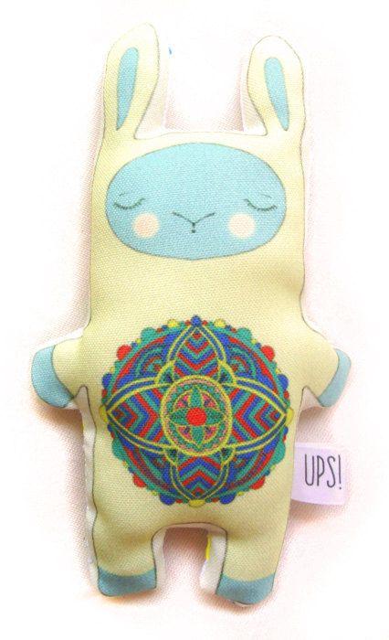 Muñeco Conejo Mandala -  Mandala rabbit doll de JessicaIlustradora en Etsy