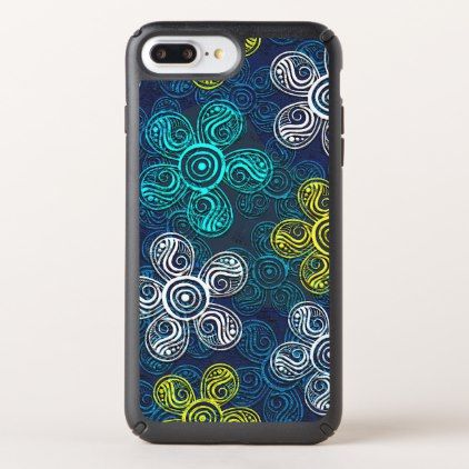 Turquoise Lime Green Retro Chic Floral Pattern Speck iPhone Case - fun gifts funny diy customize personal