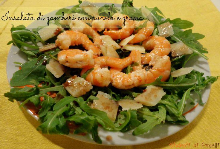 insalata di gamberi con rucola e grana ricetta antipasto