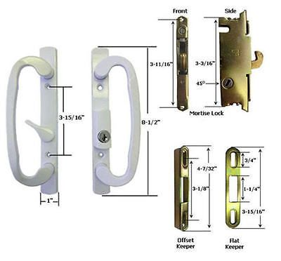 Other Door Hardware 20593: Sliding Glass Patio Door Handle Kit Mortise Lock And Keepers, B-Position, White -> BUY IT NOW ONLY: $64.95 on eBay!