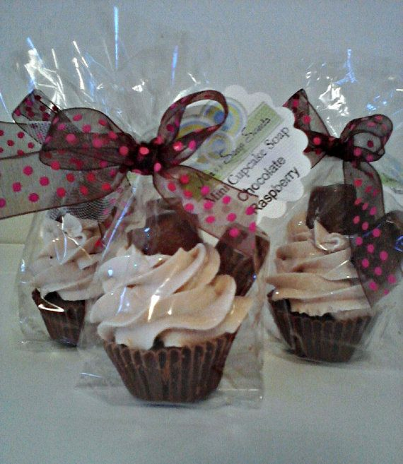 Chocolate Raspberry Cupcake Soap Mini Size by NorasSoapScents, $2.50