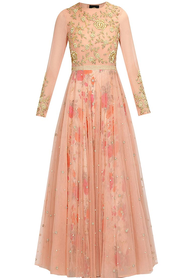 Blush pink floral work overlayered anarkali suit available only at Pernia's Pop Up Shop..#perniaspopupshop #shopnow #happyshopping #designer #newcollection #winterfestive #clothing #BhumikaSharma