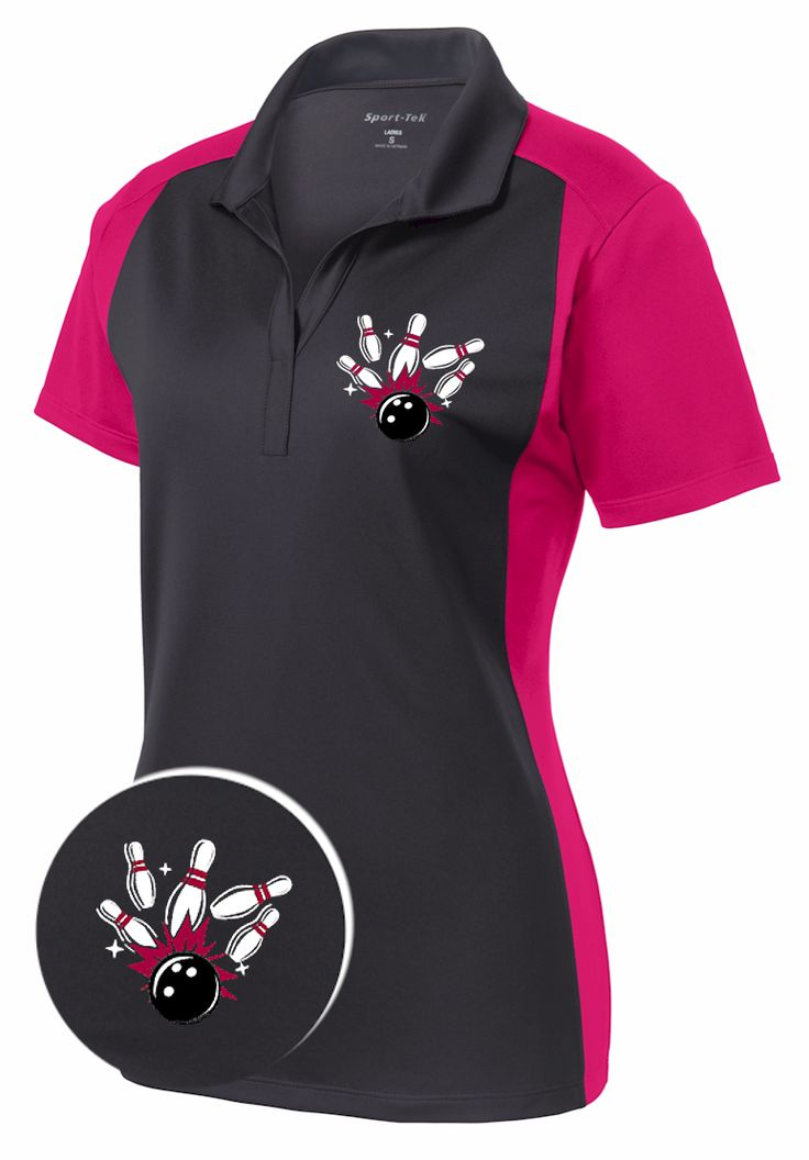 Ladies FIRED UP : Sport-Wick Bowling Shirt