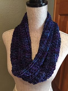 Ravelry One Skein Infinity Cowl Pattern By Louis Chicquette