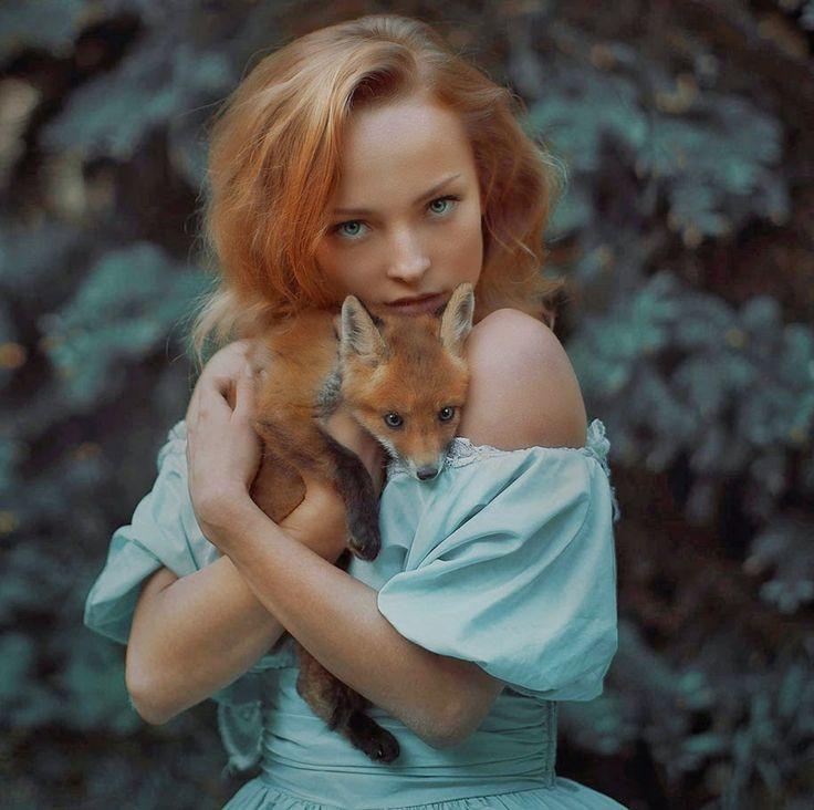 Best Amazing Images On Pinterest - Photographer captures fairytale like portraits women animals