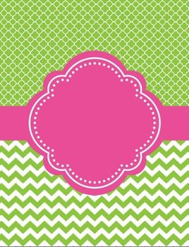 Moroccan and Chevron Binder Covers ~ Two Versions both Lim