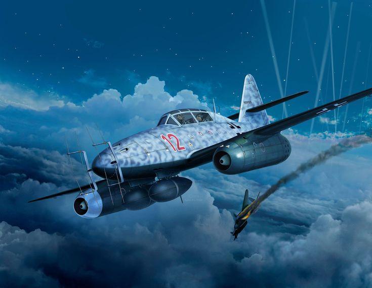 Messerschmitt Me 262B-1a/U1 Nachtjäger 'Red 12', NJG.11 'Kommando Welter', by Egbert Friedl