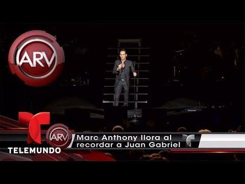 Marc Anthony dedica su concierto a Juan Gabriel | Al Rojo Vivo | Telemundo
