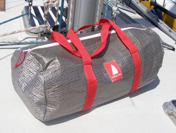 89e783ec5488 Upcycled Sailcloth Duffel Bag Pentex