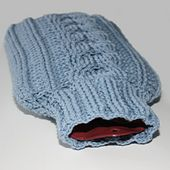Ravelry: Cabled Hot Water Bottle Cozy pattern by Kim Miller