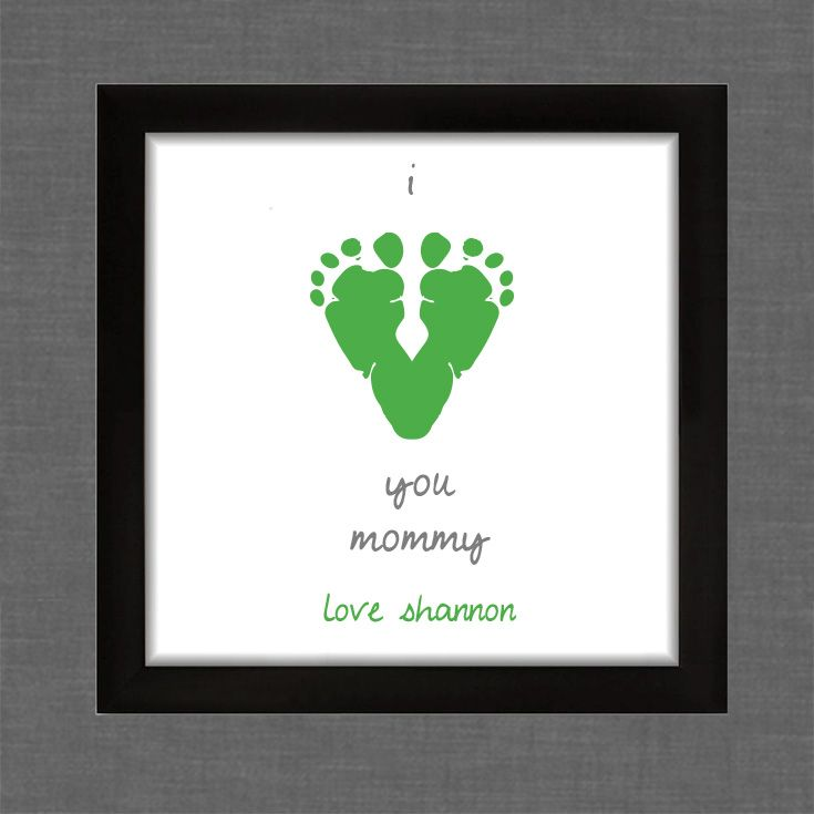Footprints Wall Decor : I love you footprint wall art made with your child s own