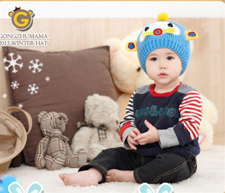 Вязаные Шапки малыш Зимняя Шапка шляпа ребенок Мультфильм Самолет Hat детский cap унисекс Подходит для зимы