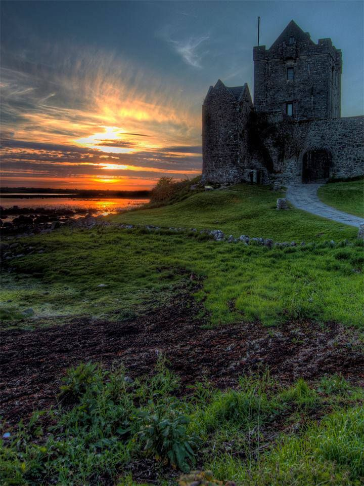 DUNGUAIRE CASTLE, Galway Bay, Ireland...