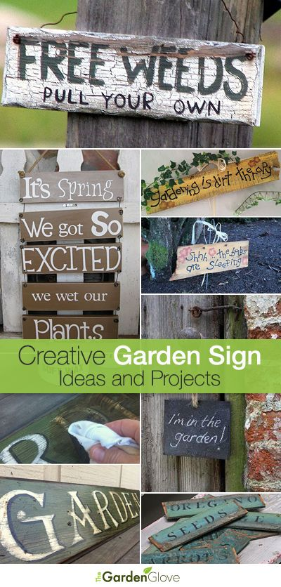 Garden Sign Ideas garden sign on a stake Creative Garden Sign Ideas And Projects Lots Of Great Ideas And Tutorials