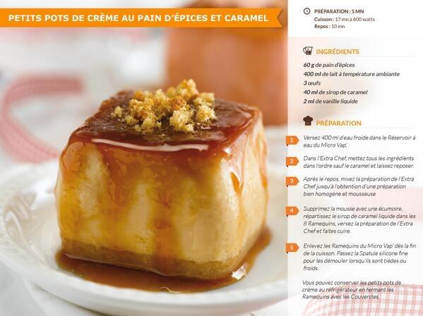 Tupperware France - Petits pots de crèmes pain d'épices et caramel - Micro Vap