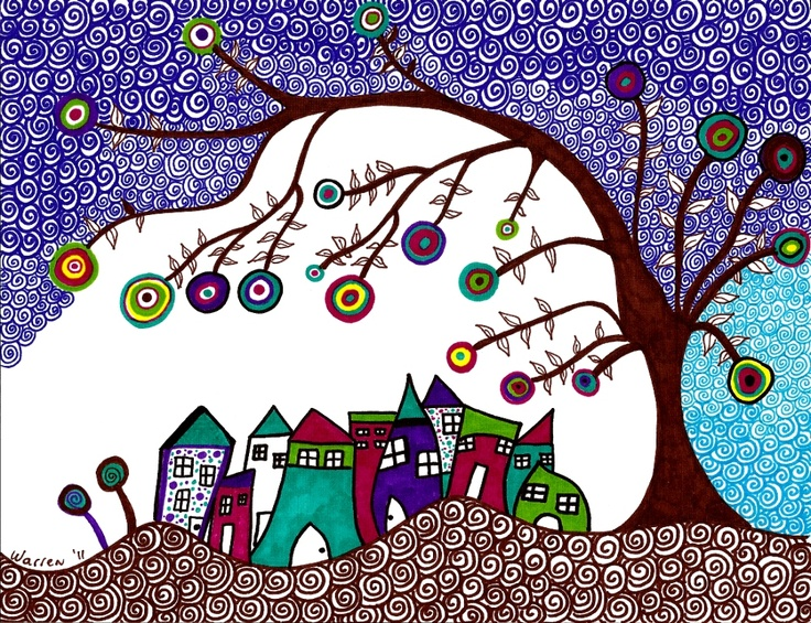 zentangles to illustrate a children's book? what a great idea!