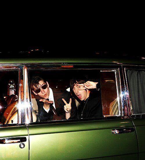Alex Turner and Miles Kane