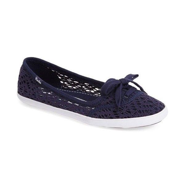 Keds 'Teacup - Crochet' Slip-On ($37) ❤ liked on Polyvore