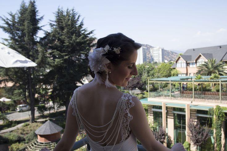 El detalle de la espalda del vestido