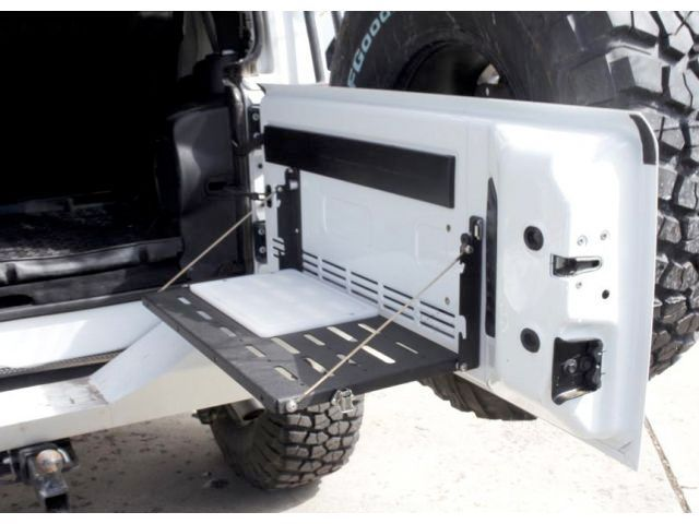 TeraFlex MP Tailgate Table with Cutting Board   Jeep Parts and Accessories   Quadratec
