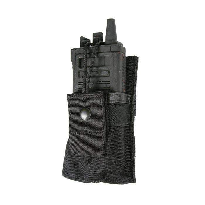 BlackHawk S.T.R.I.K.E. Tactical Pouch, Fits Small Radio GPS, Includes Speed Clips, Black