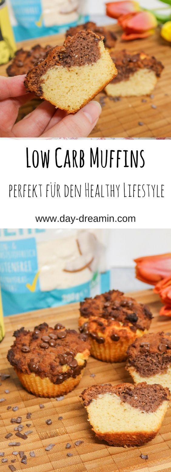 Die perfekten Low Carb Muffins für Marmorkuchen-Liebhaber mit nur 3g Kohlenhydrate pro Muffin - perfekt zum Abnehmen