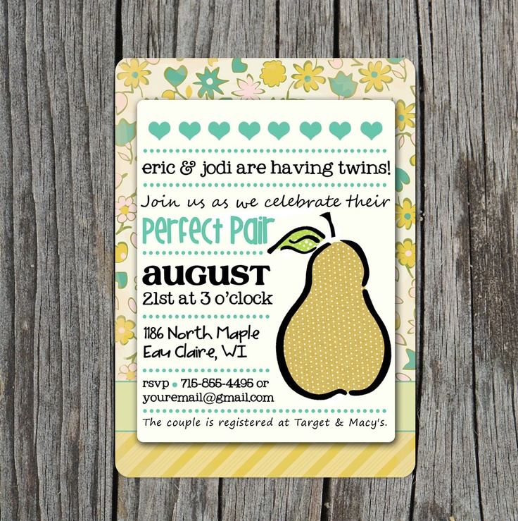 clever baby shower invitation wording%0A DIY Printable Baby Shower Invitation for Twins The by themunch