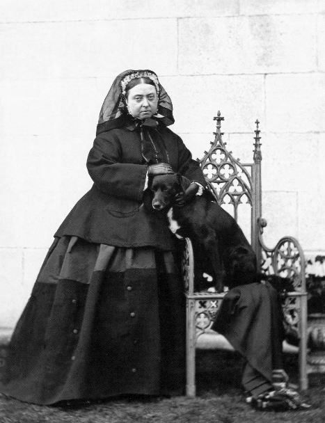 Queen Victoria, with her dog Sharp