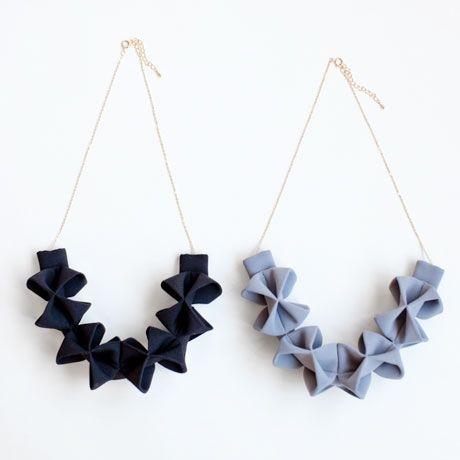 Fabric Origami Necklace // Poketo                                                                                                                                                     More